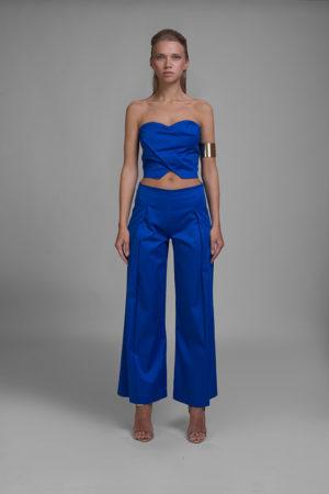 pantalone, top, corpetto
