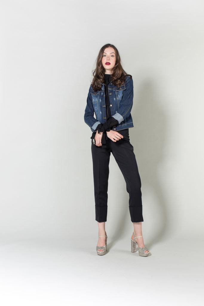 pantalone, giubbotto jeans, camicia H2O