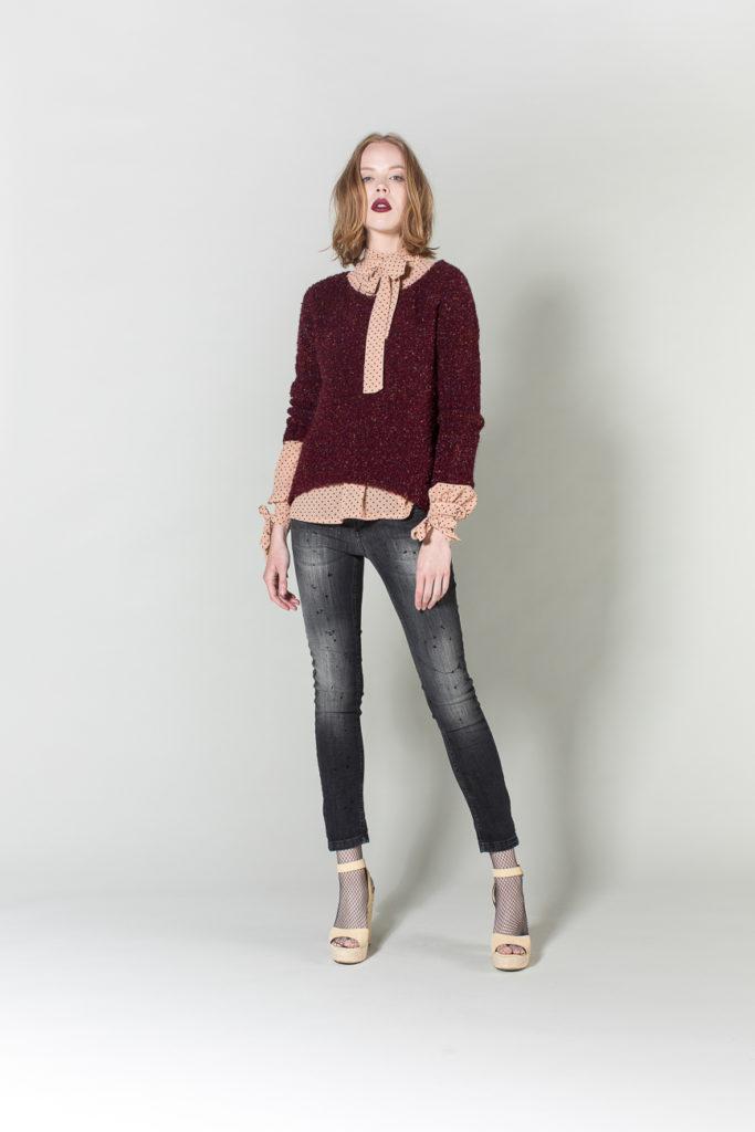 camicia, jeans, maglione H2O