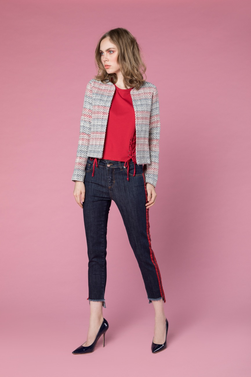 giacca, jeans, camicia H2O